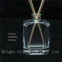 Wholesale high quality square empty aroma reed diffuser bottle with reed sticks sale from china suppliers