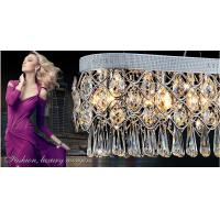 Wholesale Modern minimalist fashion creative rectangular crystal chandeliers from china suppliers