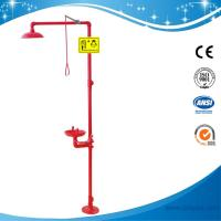 Wholesale SH712BSR-RED shower & eyewash station,SS304 Foot pedal emergency shower from china suppliers