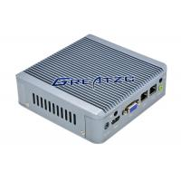 Wholesale 2 RJ45 Fanless Industrial Pc , Dual Core CPU J1900 Embedded PC from china suppliers