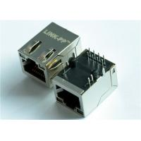 Wholesale 46F-1207GYD2NL 10/100Base-T Single Rj45 Female Jack Magnetic Connector from china suppliers