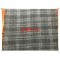 Wholesale Black and Gray One side Thin Melton 7cm Tartan Wool Fabric , Width 150cm from china suppliers