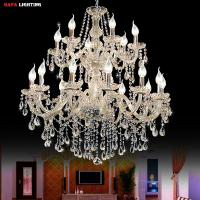 Wholesale Large foyer modern chandelier Stair Long candle crystal chandelier Fixture Staircase lighting stairs Long hanging from china suppliers