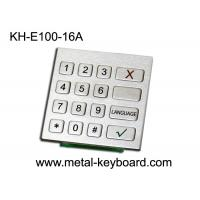 Wholesale Rugged Stainless Steel Industrial Numeric Keypad with 16 Keys for Check - in Kiosk from china suppliers