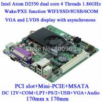 Wholesale ITX-H25_25 VER:1.5A d2550 LVDS Mini ITX Motherboard from china suppliers