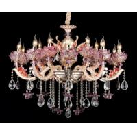 Wholesale 15 - Bulb Luxurious Crystal Zinc Alloy Contemporary Chandelier Lighting For Villas from china suppliers