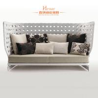 Wholesale Leisure Modern Rattan Sofa Hotel Lobby Furniture With Fabric Upholstered from china suppliers