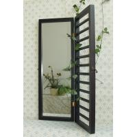 Wholesale Black jewelry door wooden wall mirror from china suppliers
