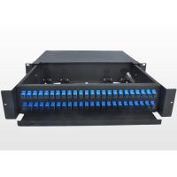 Wholesale Sliding Type 2U Fiber Optic Patch Panel Durable SC Optical Fiber Distribution Frame from china suppliers