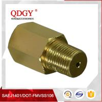 "Wholesale Anodized Aluminum Gold Turbo Oil Feed Restrictor Fitting NPT T3 T4 T0 1/8"" NPT from china suppliers"