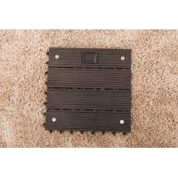 Wholesale Wpc decks with solar light outdoor flooring with solar shining in the night from china suppliers
