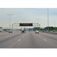 Quality P25 4R2G Programable Led Sign , Outdoor Electronic Display Boards For Highway Three Lane for sale