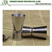 Buy cheap Stainless steel Cocktail measuring cup set double jiggers Bar measures tools15ml 20ml 30ml 40ml 50ml 65ml from wholesalers
