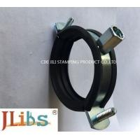 Quality Cast Iron Pipe Round Pipe Clamps Gi Pipe Clamp With M8 M10 Combi Nut And Rubber And Bolt for sale