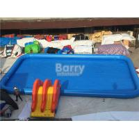 Wholesale Rectangle Shape Inflatable Pool With Small Slide For Water Ball Or Paddle Boats from china suppliers