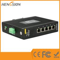 Wholesale 5 Port 1000Base Ethernet Industrial Gigabit Ethernet Switch 9-36VDC / 9-36VAC from china suppliers