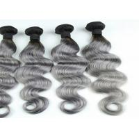 Wholesale Gray Ombre Colored Human Hair Extensions Brazilian Body Wave Hair from china suppliers