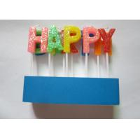 Wholesale Shining Rainbow Letter Birthday Candles 13 Pcs / 16.6G With Topper Picks from china suppliers