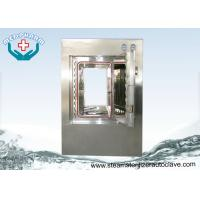 Wholesale Motorized Hinge Door Pure Steam Pass Through Autoclave With Digital PLC Display from china suppliers