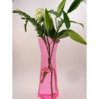 Wholesale Plastic tall vase, pvc tall vase, foldable pvc vase, measure 33*13cm from china suppliers