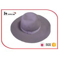 Wholesale Light Purple Winter Wool Felt Hat Women With Match Ribbed Band And Sweatband from china suppliers