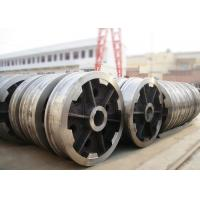 Buy cheap P24 rail locomotive freight car rail bogie wheel with axle and bearing from wholesalers