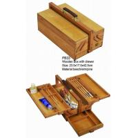 Wholesale Commecial Artist Storage Box With Drawer , Wooden Craft Storage Box For Paintings from china suppliers