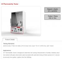 Quality 45° Flammability Tester is designed to determine the burning characteristics of textiles for sale