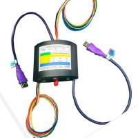Wholesale 10 Circuits Through Bire Usb HDMI Slip Ring Transmit For HD Vedio System , 2A Current Per Wire from china suppliers