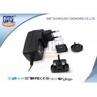 Wholesale Interchangeable Plug Power Adapter 12V 1A  , Black AC DC Power Adaptor from china suppliers