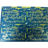 Wholesale Blue FR-4 1.2MM double sided copper clad laminate pcb 1 OZ , Immersion gold from china suppliers