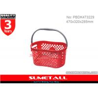 Wholesale Single Handle Plastic Shopping Baskets / Small Plastic Baskets With Handles from china suppliers
