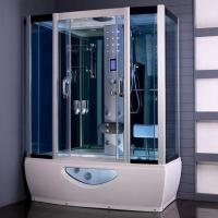 Wholesale Tempered Glass Rectangular Shower Enclosure Steam Tub Shower Combo With Shower Handle from china suppliers