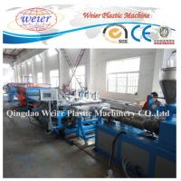 Wholesale twin conical extruder semiautomatic new design WPC foam board production line from china suppliers