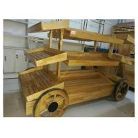 Wholesale 3 Layers Promotion Supermarket Display Stands Wood Storage Shelves For Banana from china suppliers