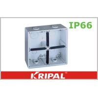 Wholesale Grey Small IP66 Outdoor Junction Box / Plastic Electrical Junction Box from china suppliers