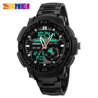 Quality 304 Stainless Steel Strap Digital Analog Wrist Watch PC Eco - Friendly Case for sale
