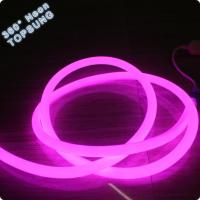 Wholesale PVC round neon 16mm pink led 360 degree neon flex lights 110V from china suppliers