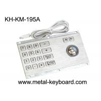 Wholesale Anti - Vandalism Trackball Industrial Keyboard with Trackball With PS/2 / USB Interface from china suppliers