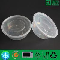 Quality Round PP Feature Microwave Takeaway Plastic Food box 625ml for sale