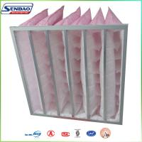 Wholesale F7 85% Medium Efficiency Pink Color Synthetic Fiber Bag Type HVAC Air Filters from china suppliers