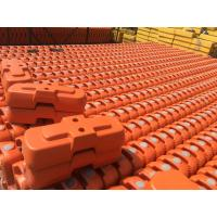 Wholesale Orange Color Blow Mould Plastic Temporary Fence Feet/Block from china suppliers