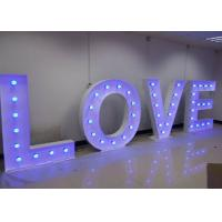 Wholesale Romantic Love Wedding Letter Lights With Light Bulbs , Wedding Love Light Sign from china suppliers
