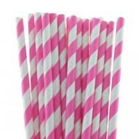Wholesale multi-type Decorative pattern colorful paper straws with 26mm length from china suppliers