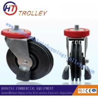 "Quality 125 mm Shopping Trolley Spare Parts Of  5"" Three Sides Wheel Castor For Machine for sale"