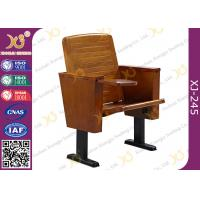 Wholesale Slim Metal Leg Conference Hall Chairs with Strengthen Standing Foot Wood Seat from china suppliers