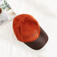 Wholesale New Style Caps Hats Custom Hat Embroidered Suede Baseball Cap with PU brim from china suppliers