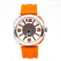 Wholesale Orange Silicone Wristband Watch Waterproof Stainless Steel  Case from china suppliers