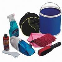 Wholesale 8-piece car cleaning kit, includes cleaner, scratch remover, brush and cloth from china suppliers