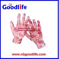 Buy cheap Comfortable customized thin working PU glove, garden glove from wholesalers